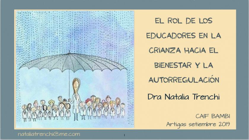 El rol de los educadores en la crianza hacia el bienestar y la autorregulación (Caif Bambi, ARTIGAS)